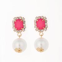 Pendientes de perlas de la joyería para las mujeres los mejores regalos en el día de San Valentín pendientes largos de la Navidad del precio en dólares # E013