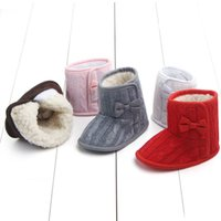 Baby knit boots first walking shoes ankle boots warm and com...