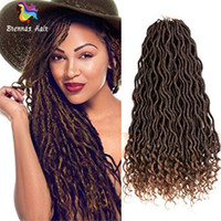 Soft Wavy faux locs with curly ends 18inch dreadlocks braids...