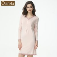 7b9ae150fc Wholesale sexy cotton nighties online - 2016 Womens cotton Sexy V Neck T  Shirt Nightgowns Plus