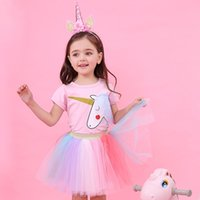 Girls Clothing Sets New Summer Fashion Style Cartoon Unicorn...