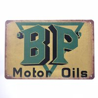 New Design BP Motor Oils Vintage Rustic Home Decor Bar Pub H...