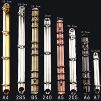 جديد وصول الملونة المعادن دوامة الموثق كليب المقاوم للصدأ a4 a5 a6 binder ملف مجلد كليب حلقة الحديد