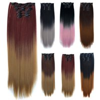 "Bellqueen 8pc lot 24 "" 140g Gerade 16 Clips In Falsche S..."