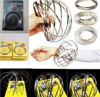 Toroflux Flow Rings 3D Kinetic Sensorial juguetes frescos interactivos para niños adultos divertido anillo mágico juguete GA274