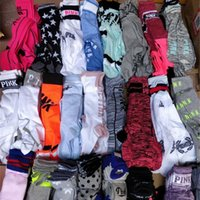 Pink Letter Women Socks Knee High Sports Cheerleaders Stocki...