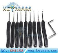 1 스테인레스 스틸 높은 품질 KLOM 9 잠금 설정 자물쇠 도구 잠금 오프너 잠금 해제 문을 선택 후크