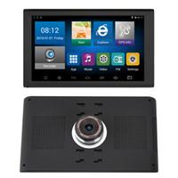 Full HD 1080 P 9 inç Araba Android WIFI GPS Navigator DVR Kamera Video Kaydedici Bluetooth AVIN Kamyon Navigasyon 16 GB Haritalar
