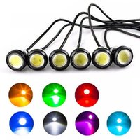 2 Unids Nuevo 9W 18mm Impermeable Ultra Brillante LED Eagle Eye Car Daytime Running DRL Tail Backup Lights