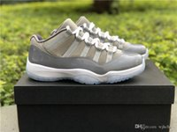 2018 Best Quality 11 Low Cool Grey 11S Basketball Shoes Snea...