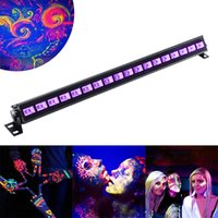 LED Bar Black Lights 18W 27W 36W 54W UV Blacklight LED Wall Wash Lamp Floodlight para o Natal Halloween Party Florescent Poster Disco