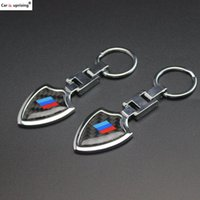 10pcs New carbon fibre Keychain Keyring for For BMW M Power ...