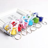 새로운 유행 도매 3 차원 운동화 키 체인 다채로운 시뮬레이션 캔버스 신발 열쇠 고리 인형 액세서리 뜨거운 판매
