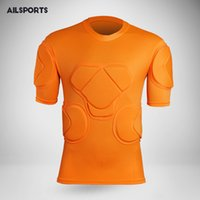 Men rugby soccer goalkeeper jerseys knee pads tops elbow foo...
