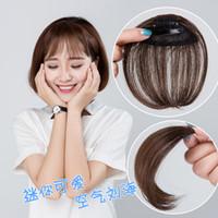 2018 Top Mode Limited Flequillo Human Cheveux Clip Bangs Aplique De Cabelo Humano Air Bangs Mini Faux Invisible Naturel LifEliKikeFover Mer