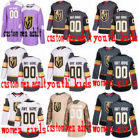 d09587204 Custom Vegas Golden Knights 2018 Stanley Cup Gray White Fleury Neal Any  Number Name  17 Sewn 2017 Inaugural Season 100TH Patch Jersey S-4XL
