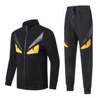 Luxury brand devil eyes tracksuits for men tide sport monste...