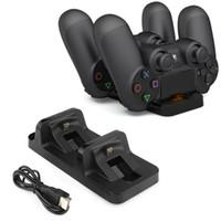 Carregador de Carregamento Dual USB Dock Station Suporte para Sony Playstation 4 / Slim / PS4 PS3 Joystick Controlador de Acessórios de Jogos FRETE GRÁTIS