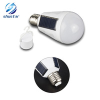 Portable Intelligent 7W 12W LED Solar Lamp AC85- 265 Bombilla...