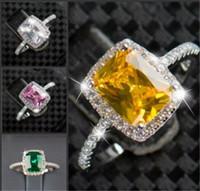 تعزيز كبير 3ct ريال 925 فضة الطوق swa تقليد خواتم الماس للنساء بالجملة زفاف خطوبة مجوهرات rj جديد KKA1922