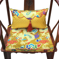 Ethnic Luxury Animal Chinese Dragon Chair Seat Cushion High ...