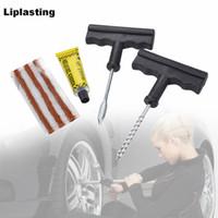 Liplasting Schneller Reifenreparaturwerkzeuge 1 Satz / 6 Stücke Auto Tubeless Kits Rasp Nadel Patch Fix Werkzeuge Auto Motorrad Fahrrad Zubehör