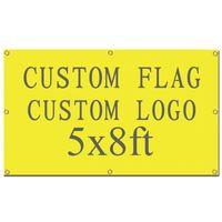 Digitaldruck Hohe Qualität Custom Design benutzerdefinierte Flagge 5x8ft 100% Polyester Banner mit Metall Ösen individuelle Flagge