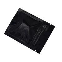 200 Stück 6 * 8cm Schwarz Reclosable Zip-Lock Beutel Grip Seal Getreide Kaffee Paket duftender Tee-Geruch Proof-Speicher-Beutel mit Verschluss