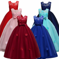 Children Lace Princess Girl Dress for Wedding Birthday Party...