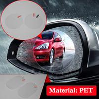 Universal a prueba de lluvia espejo retrovisor del coche pegatinas película anti niebla transparente ventana clara protección Nano Safety Drive Auto Goods