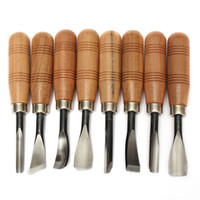 Freeshipping جديد وصول 8Pcs / lot غريفر تشيب التفصيل إزميل WoodWorking نحت أدوات يدوية السكاكين جودة عالية