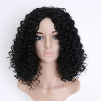 Synthetic wigs Afro Curly Hair Wigs for Black Woman Short Ki...