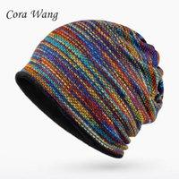 Hiver Chapeaux Pour Femmes Hommes Skullies Bonnets Turban Chapeau Femelle Beanie Ski Cap Double Couche Bonnet Femme Chapeau / Masque / Écharpe 3 en 1
