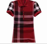 Tshirts Women Lady Girls Summer Casual Fashion Plaid Printed Short Sleeve  Cotton Sports Polo T-Shirt Tops Blouses Woman Clothes T Shirts 2dffd4411ef5