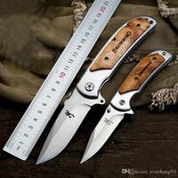 Van hoge kwaliteit!!! Browning 338 Small Pocket Folding Messen 440c 57HRC Tactical Camping Hunting Survival EDC Gereedschap Houten Handvat Utility Tools