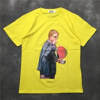 4b783fd82018 2018SS NEW TOP Summer Blowing bubbles boy 3D pattern print Men Short sleeve  t shirts Hip hop Fashion Casual Cotton tee Yellow