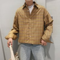 Autumn New Men' s Plaid Shirt Fashion Retro Streetwear H...