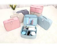 Wholesale boys toiletry bags online - 8 Designer Fresh Cosmetic Case  Outdoor Travel Makeup Bags Portable 554c3ce53