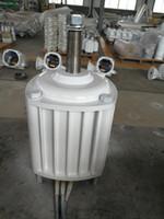 1KW / 1000W 400RPM 24V / 48V / 96V 낮은 RPM 수평 바람 수력 발전기 / 영구 자석 발전기 모터 수력 터빈