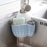 Kitchen Sponge Drain Holder Wheat Fiber Sponge Storage Rack ...