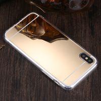 Galvanoplastia Espejo Deluxe choque TPU cubierta del gel del caso para el iPhone 11 Pro Max XS XR X 8 7 6 6S Plus Samsung Galaxy S10 S9 E Nota 9 M10 M20 A30