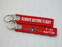 F-22 Raptor إزالة قبل الرحلة المطرزة مفتاح سلسلة الطيران العلامات الطيران 1PCS