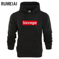 RUMEIAI 2018 Brand New Autumn Fashion Men's And Sweatshirts Man Casual Hoodies Men Clothing Hip Hop Savage Hoody