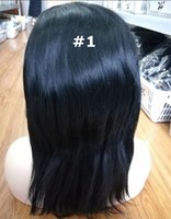 Straight Wig Human Hair Lace Front Brown And Black Color Bra...