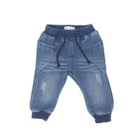 baby boy clothes knitting denim jeans long pants fashion sof...