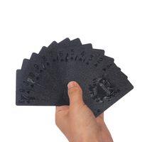 54 Unids Negro Tarjetas de juego de plástico PVC impermeable Juego de póquer Jugar juegos de cartas Dólar estadounidense Con caja de póquer Trucos de magia clásicos Herramientas