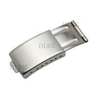 Freies Verschiffen 16mm X 9mm Männer Frauen NEUE Hohe Qualität Edelstahl Uhrenarmband-schnalle Faltschließe für Rolex Uhr