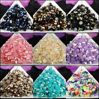 2500 unids / bolsa SS20 5mm 9 COLOR Jelly AB Resina Crystal Rhinestones Flatback Super Glitter Nail Art Strass Decoración de la boda Beads Non Hotfix 03
