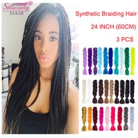 jumbo braiding hair crochet braid kanekalon pure color 24 in...