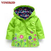 Vimikid com capuz meninas jaqueta para a menina casaco crianças casacos de inverno outwear roupas primavera outono moda crianças capa de chuva casaco k1